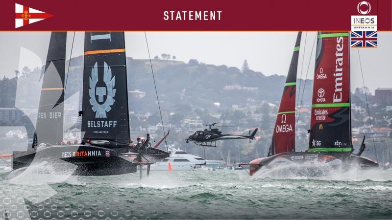 Royal Yacht Squadron Ltd & INEOS TEAM UK statement - photo © INEOS TEAM UK