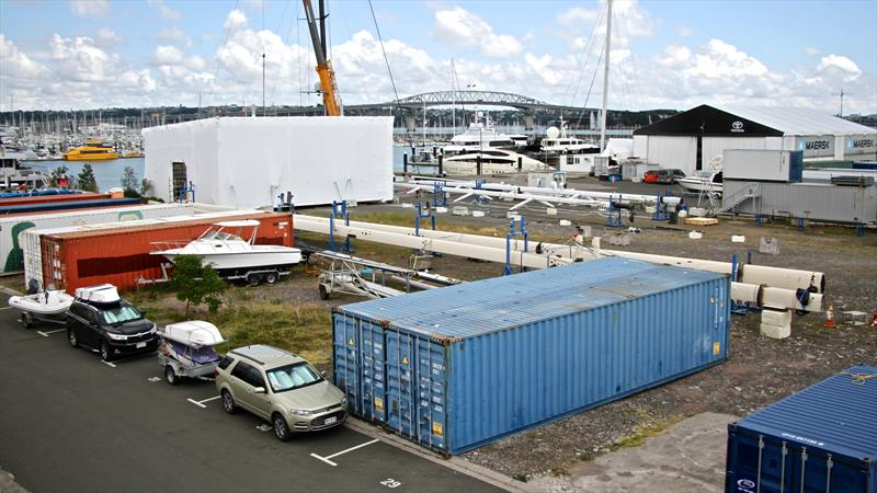Superyacht rig servicing area - Site 18, Beaumont Street, Auckland - photo © Richard Gladwell