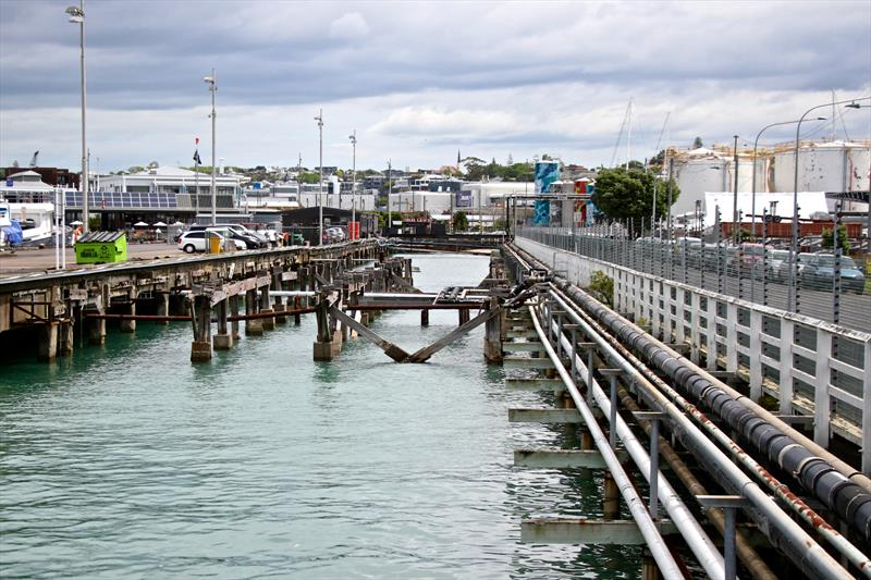 Wynyard Wharf looking south - the 80-95 year old wharf will need considerable rectification work before being covered in for Cup bases - Wynyard Point, Auckland, New Zealand - photo © Richard Gladwell