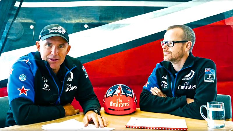 Ray Davies (left) Emirates Team NZ coach and Dan Bernasconi (right) Design and Performance and one of the AC75 Rule Architects - photo © Emirates Team NZ