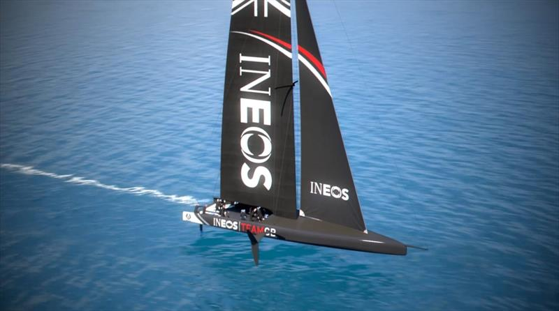 Graphic of INEOS Team GBR's AC75 - photo © INEOS Team GBR