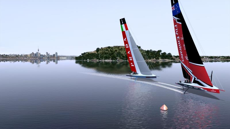 AC75 yachts racing on a course in the outer Waitemata Harbour off North Head - photo © Emirates Team New Zealand