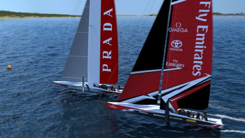 AC75 rendering - Emirates Team New Zealand photo copyright Emirates Team New Zealand taken at  and featuring the AC75 class