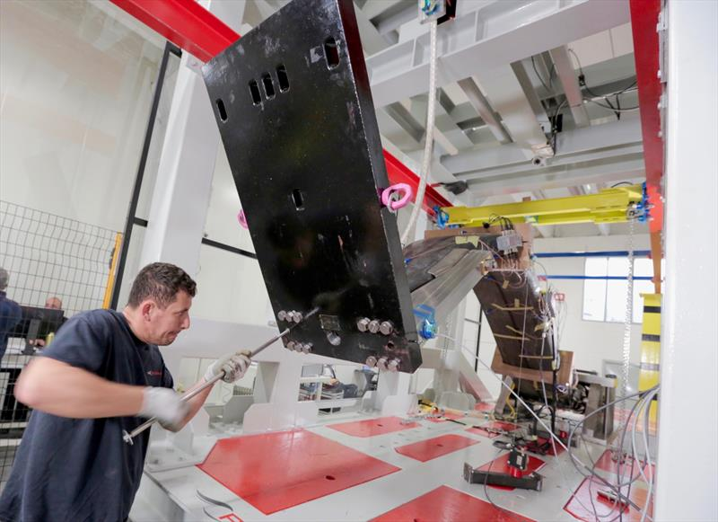 36th America's CupAC75 foil arms structure testing at Persico Marine - photo © America's Cup