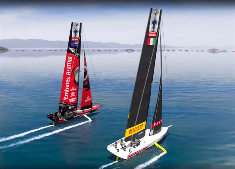 AC75's racing in the America's Cup World Series - Cagliari, Sardinia - photo © America's Cup Media