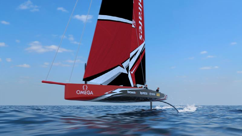 The 36th America's Cup class boat concept of the AC75. photo copyright Virtual Eye taken at Circolo della Vela Sicilia and featuring the AC75 class