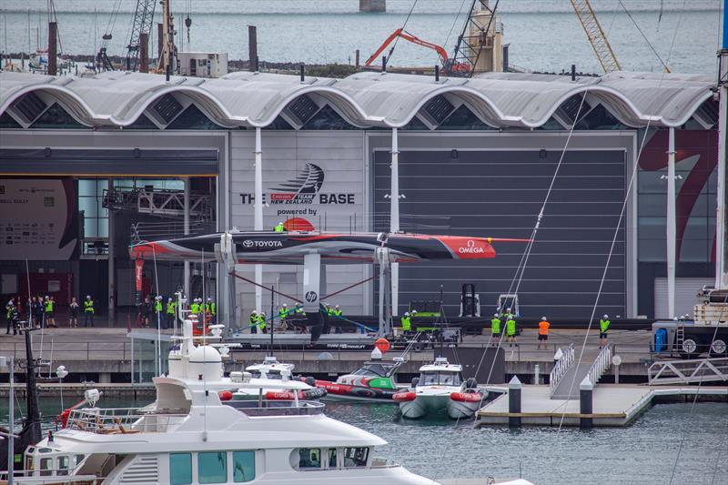 Emirates Team New Zealand AC75 is revealed for the first time in Auckland - Thursday September 5, 2019 - photo © Emirates Team New Zealand