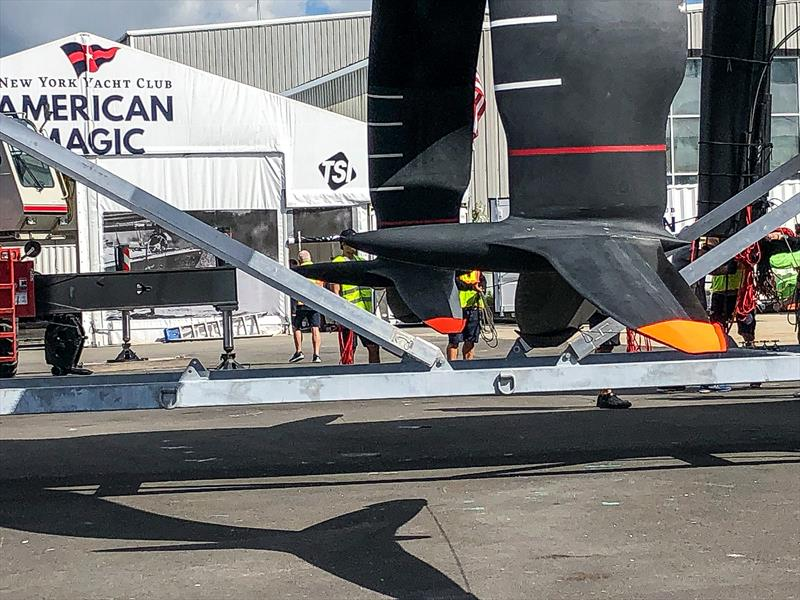 American Magic has taken a very different approach to Emirates Team NZ with their foil arms and foil wings. - September 13, - photo © FareVela