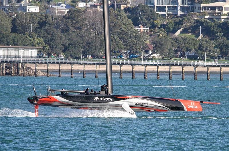 Emirates Team New Zealand - under tow after first days sailing - September 18, - photo © Richard Gladwell