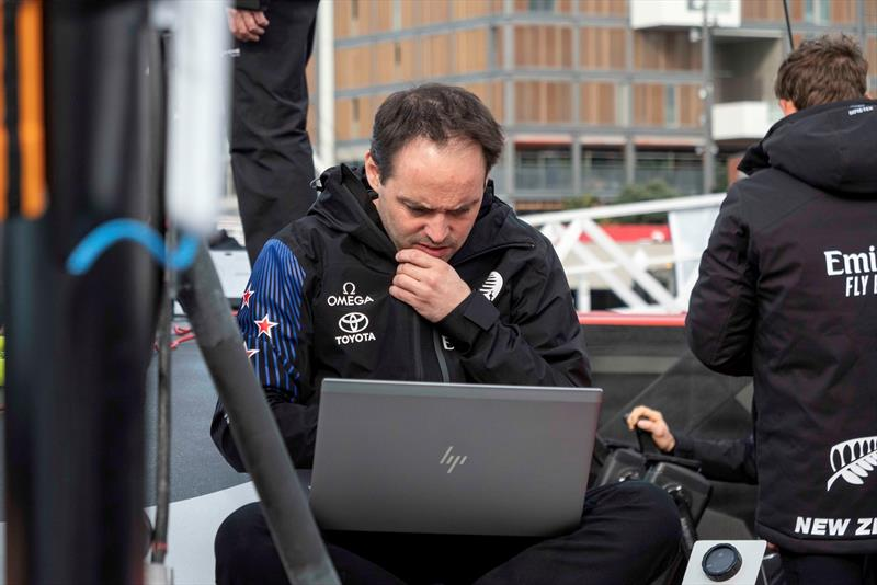 Some deep think - Emirates Team New Zealand - Sail - Day 1, September 18, 2019 - photo © Emirates Team New Zealand