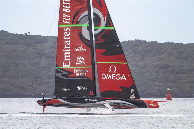 America's Cup: Emirates Team NZ close up - Day 3