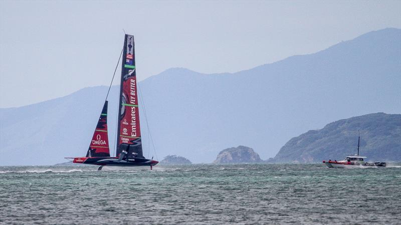 For the Doubting Thomases - Emirates Team New Zealand gets foiling without a tow rope - Waitemata Harbour - September 22 - photo © Richard Gladwell