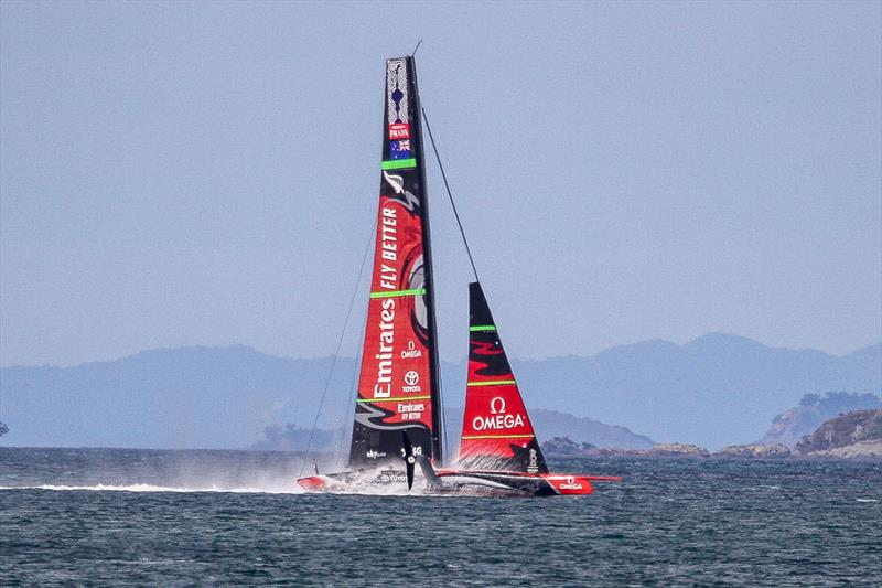 3. Emirates Team New Zealand six frames on from the splash the AC75 has flattened out nicely, the wing is clear and loss of speed appeared minimal- Waitemata Harbour - September 22, 2019 - photo © Richard Gladwell