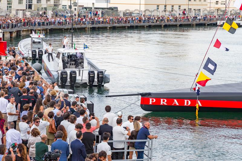 Luna Rossa Prada Pirelli - launching AC75 - Cagliari, Sardinia - October 2, 2019 photo copyright Stefano Gattini taken at Circolo della Vela Sicilia and featuring the AC75 class