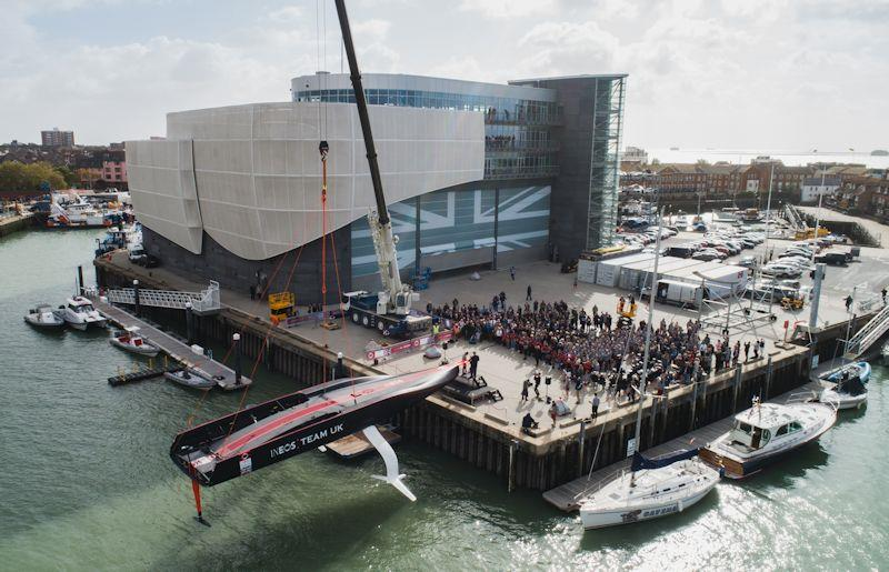 INEOS TEAM UK officially christened their first America's Cup race boat, Britannia - photo © Chris Ison