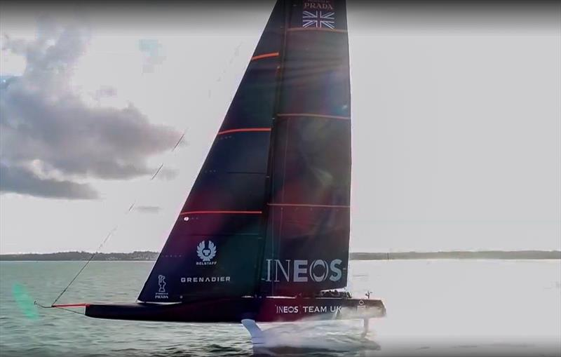 America's Cup: INEOS Team UK foiling video released
