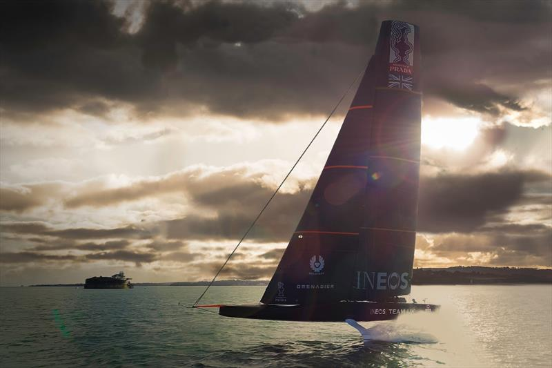 INEOS Team UK has her first sail off Portsmouth - October 2019 - photo © Harry KH / INEOS TEAM UK