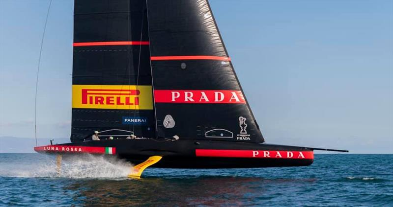 America's Cup: Italian and British teams reveal first sailing AC75 images