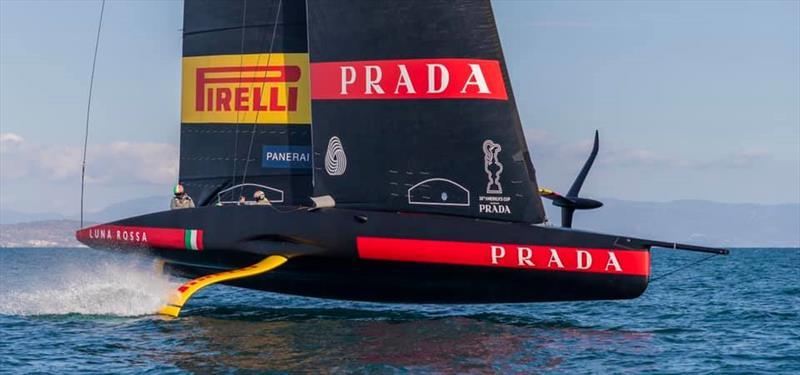 Luna Rossa Prada Pirelli sails their first AC75 off Sardinia, Italy - photo © Luna Rossa