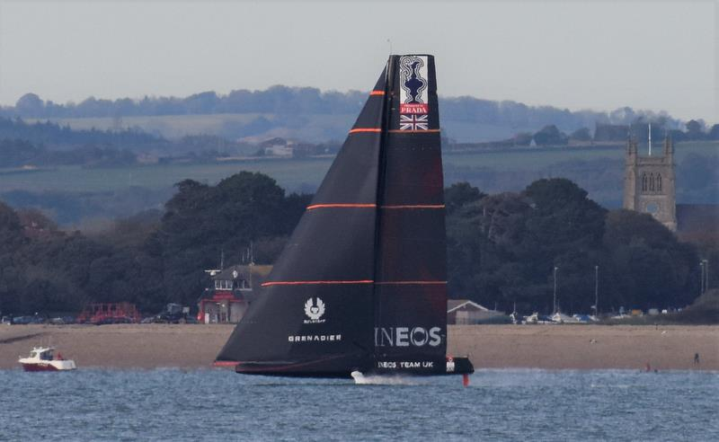 INEOS Team UK test sailing in the Solent - October 2019 - photo © John Green