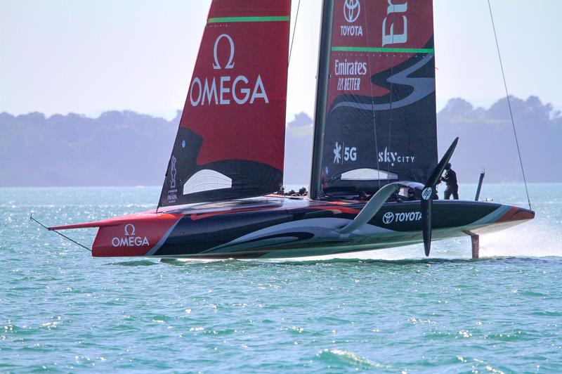Te Aihe - Emirates Team New Zealand - Waitemata Harbour - November 4, 2019 - photo © Richard Gladwell / Sail-World.com