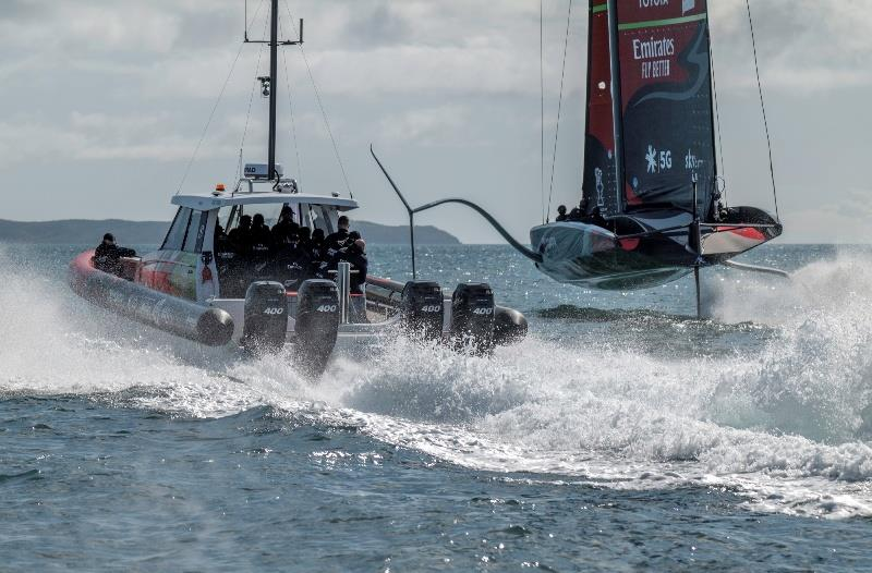 Emirates Team New Zealand's AC75 'Te Aihe' on the Waitemata Harbour - 36th America's Cup - photo © Emirates Team New Zealand
