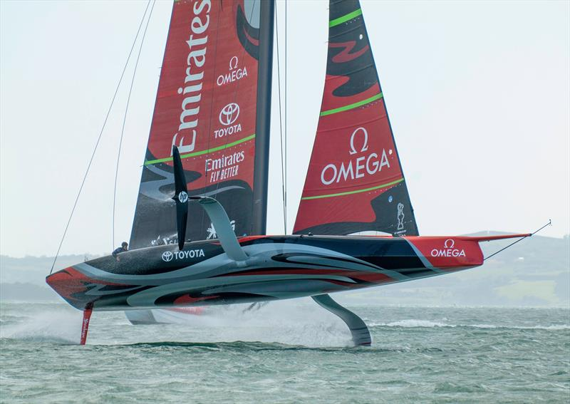 Emirates Team NZ provides Spark with one of the most challenging test environments imaginable. October 2019 - photo © Emirates Team New Zealand