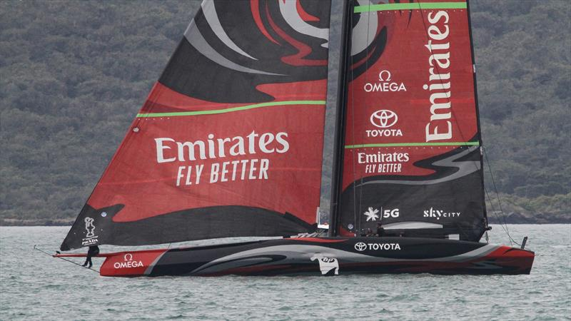 Emirates Team New Zealand's Te Aihe, Waitemata Harbour, November 6, 2019 photo copyright Richard Gladwell / Sail-World.com taken at Royal New Zealand Yacht Squadron and featuring the AC75 class