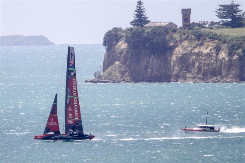 A few seconds later, Te Aihe is back foiling - Emirates Team New Zealand - Waitemata Harbour - November 22, 2019 - photo © Richard Gladwell / Sail-World.com