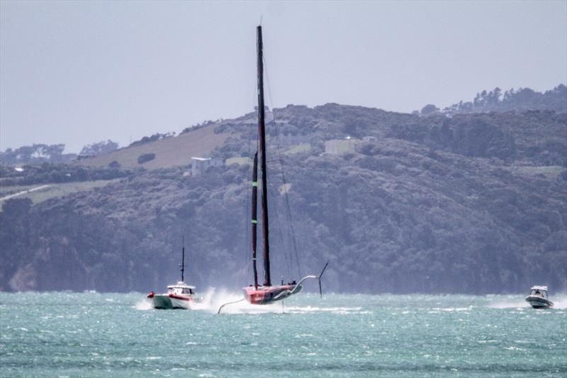 Te Aihe training in 'The Paddock` off Eastern Beach, Auckland - December 9, 2019 - photo © Richard Gladwell / Sail-World.com