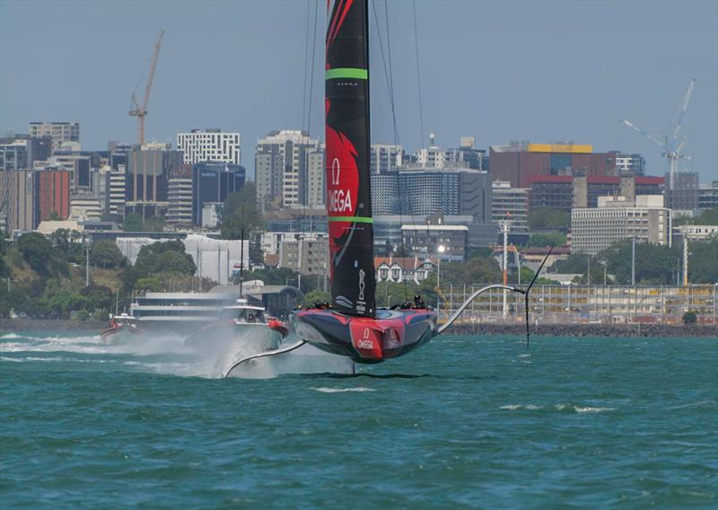 Emirates Team New Zealand - Waitemata Harbour - December 19, 2019 photo copyright Emirates Team New Zealand taken at Royal New Zealand Yacht Squadron and featuring the AC75 class