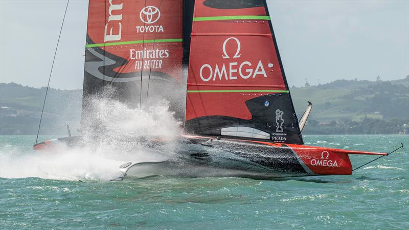 Te Aihe, Emirates Team New Zealand's first AC75 training in fresh conditions at The Paddock - photo © Emirates Team New Zealand