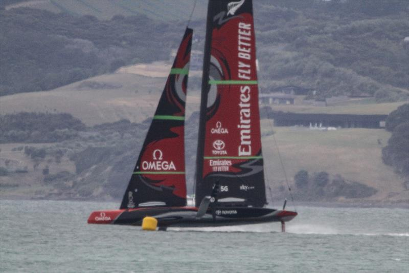 Emirates Team New Zealand - January 8, 2020 photo copyright Richard Gladwell / Sail-World.com taken at Royal New Zealand Yacht Squadron and featuring the AC75 class