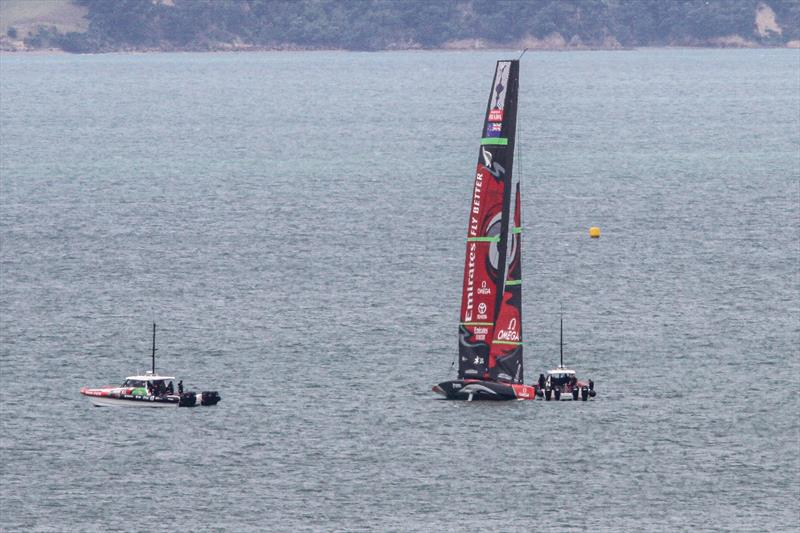 Time for another team talk - Emirates Team New Zealand in The Paddock - January 8, 2020 - photo © Richard Gladwell / Sail-World.com