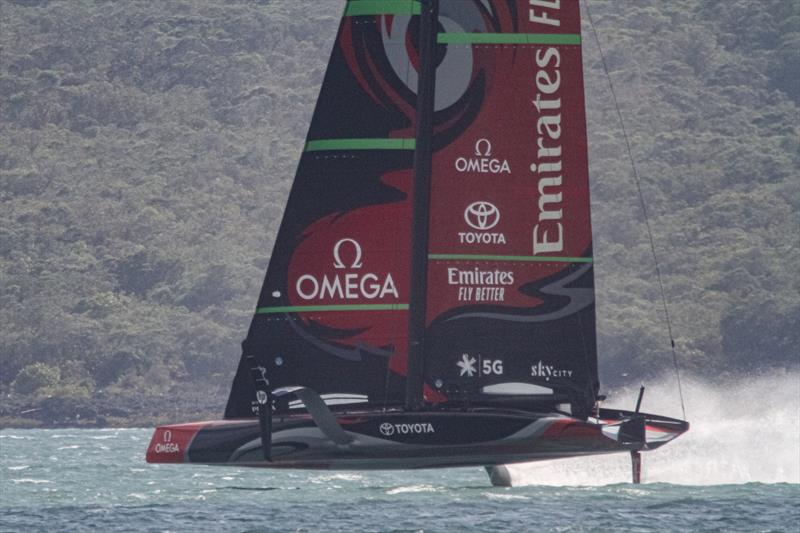 Emirates Team New Zealand's AC75 - January 10, 2020 photo copyright Richard Gladwell / Sail-World.com taken at Royal New Zealand Yacht Squadron and featuring the AC75 class