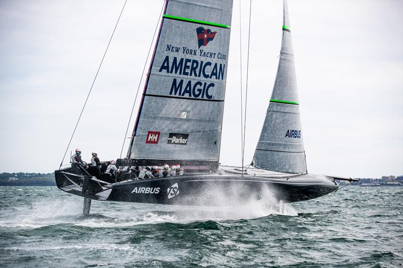 American Magic's AC75 Defiant testing off Newport, RI - photo © Amory Ross / NYYC American Magic