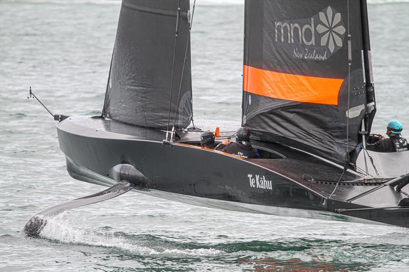 Emirates Team New Zealand appear to have made a good call with their test boat Te Kaahu - photo © Richard Gladwell / Sail-World.com