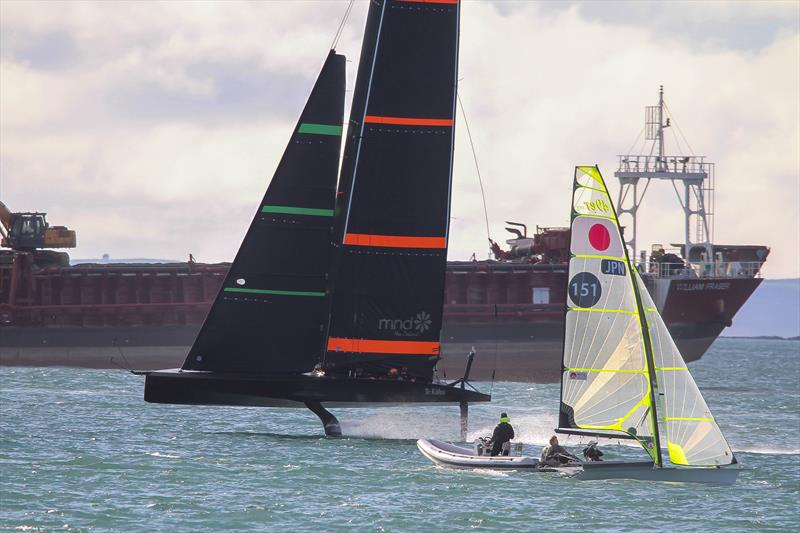 Emirates Team NZ's Test boat - Te Kahu - Waitemata Harbour, June 2020 - photo © Richard Gladwell / Sail-World.com