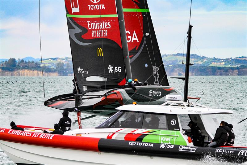 Emirates Team NZ' s AC75 Te Aihe - Auckland - July 1, 2020 - photo © Richard Gladwell / Sail-World.com