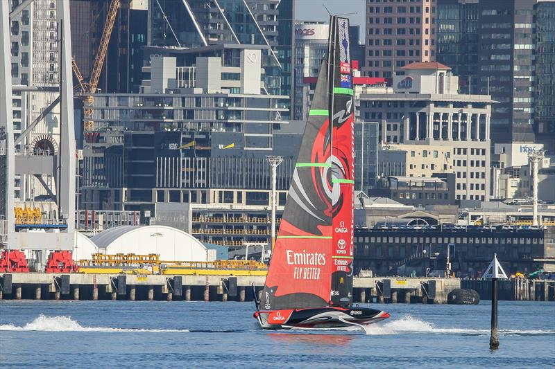 Emirates Team NZ heads out for some Code Zero testing - America's Cup - Auckland - July 4, 2020 - photo © Richard Gladwell / Sail-World.com