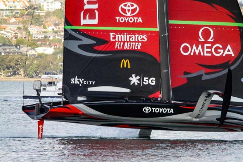 America's Cup: AC75 Te Aihe has another mid-winter training session