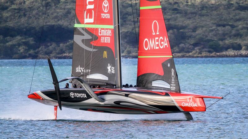 Te Aihe - AC75 - Emirates Team New Zealand - July 13, 2020 - Waitemata Harbour, Auckland, New Zealand - photo © Richard Gladwell / Sail-World.com