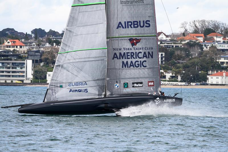 American Magic - Waitemata Harbour - Auckland - America's Cup 36 - July 27, 2020 photo copyright Richard Gladwell / Sail-World.com taken at New York Yacht Club and featuring the AC75 class