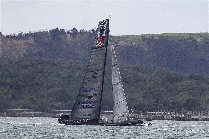 American Magic - Waitemata Harbour - Auckland - America's Cup 36 - July 30, 2020 - photo © Richard Gladwell / Sail-World.com