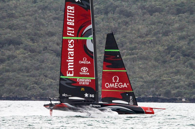 Te Aihe - AC75 - Emirates Team New Zealand - August 14, 2020, Waitemata Harbour, Auckland, New Zealand - photo © Richard Gladwell / Sail-World.com