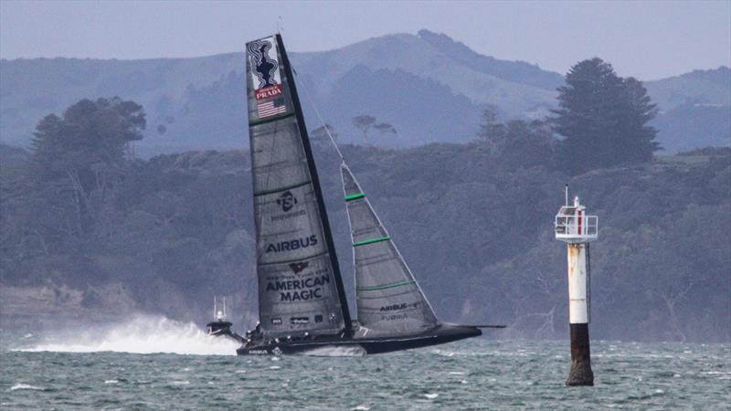 American Magic - Defiant - Auckland - August 17, 2020 - Waitemata Harbour - 36th America's Cup photo copyright Richard Gladwell / Sail-World.com taken at Royal New Zealand Yacht Squadron and featuring the AC75 class