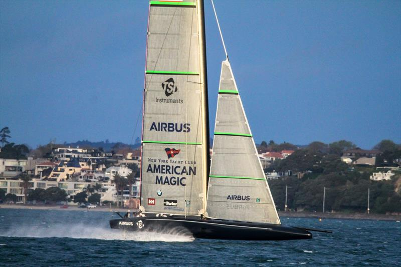 American Magic - Defiant - Auckland - August 17, 2020 - Waitemata Harbour - 36th America's Cup - photo © Richard Gladwell / Sail-World.com