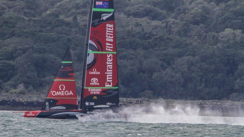 Emirates Team New Zealand - Te Aihe - Auckland - August 17, 2020 - Waitemata Harbour - 36th America's Cup - photo © Richard Gladwell / Sail-World.com