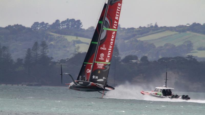 Emirates Team New Zealand - Waitemata Harbour - September 14, 2020 - 36th America's Cup photo copyright Richard Gladwell / Sail-World.com taken at Royal New Zealand Yacht Squadron and featuring the AC75 class