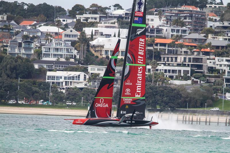 Emirates Team New Zealand - Waitemata Harbour - September 14, - 36th America's Cup photo copyright Richard Gladwell / Sail-World.com taken at Royal New Zealand Yacht Squadron and featuring the AC75 class